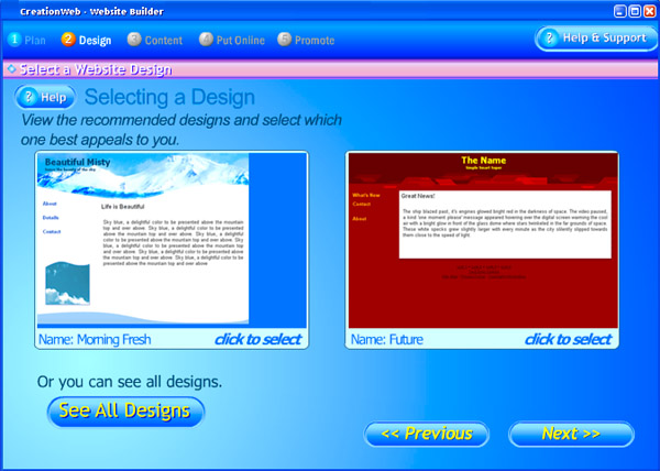 Click to view CreationWeb Business Edition 1.0 screenshot